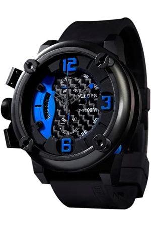 Welders K28 7103 - Reloj cronógrafo de caballero de cuarzo con correa de goma negra - sumergible a 100 metros