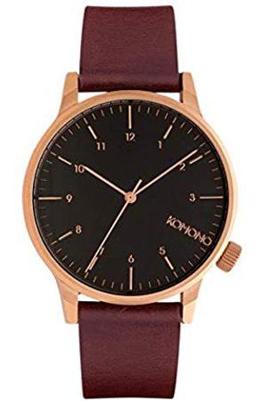 Komono Reloj Analógico de Cuarzo Unisex con Correa de Cuero – KOM-W2265