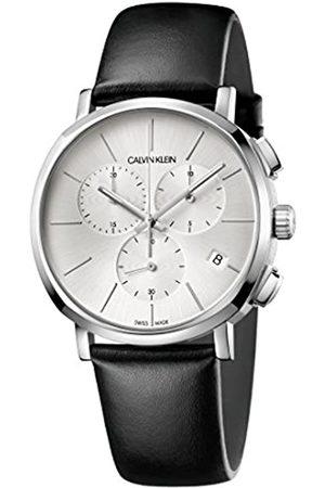 Calvin Klein Hombre Relojes - Reloj Cronógrafo para Hombre de Cuarzo con Correa en Cuero K8Q371C6