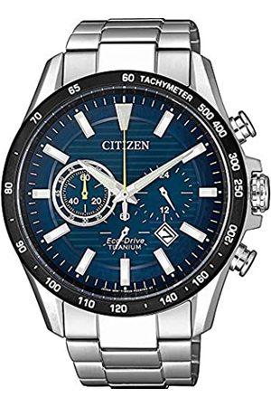 Citizen Hombre Relojes - Reloj Analógico para Hombre de Cuarzo con Correa en Titanio CA4444-82L