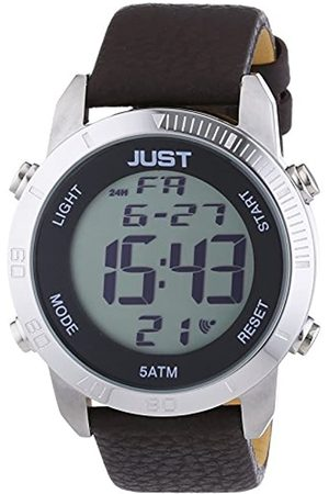 Just Watches Hombre Relojes - Reloj de Pulsera para Hombre XL, Digital, Cuarzo, Piel