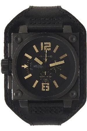 Welders Hombre Relojes - K23 1779 - Reloj cronógrafo de caballero de cuarzo con correa de piel negra