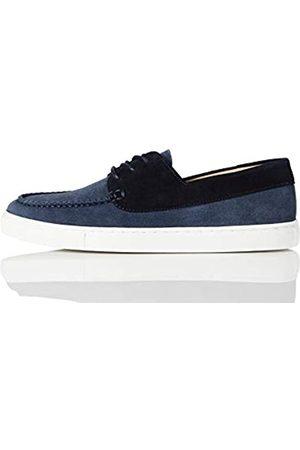 FIND Cupsole Boat Shoe Náuticos, (Blue (Suede)