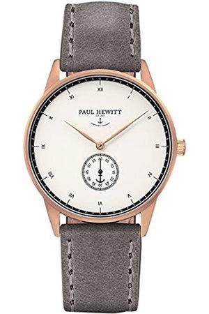 Paul Hewitt Hombre Relojes - PaulHewittRelojanalogicoparaUnisexdeCuarzoconCorreaenPielPH-M1-R-W-13S