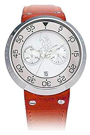 U.S. Polo Assn. Us Polo Association Reloj Analógico para Hombre de Cuarzo con Correa en Cuero USP9002SL