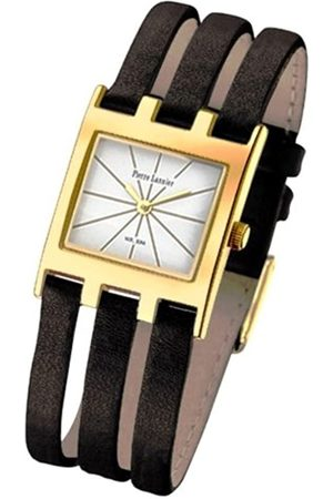 Pierre Lannier 175C523 - Reloj analógico de caballero de cuarzo con correa de piel negra