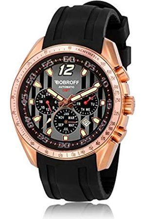 BOBROFF Hombre Relojes - Reloj Analogico para Hombre Automatico con Correa En Caucho BF0016V2GN