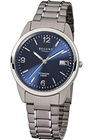Regent 11090247 - Reloj analógico de Cuarzo para Hombre con Correa de Titanio