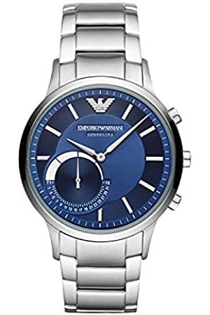 Emporio Armani Hombre Relojes - Reloj Analógico para Hombre de Híbrido con Correa en Acero Inoxidable ART3033