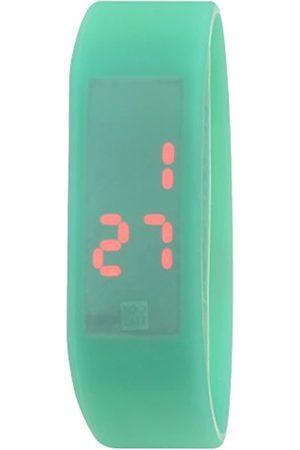 too 2 late Relojes - Reloj Analógico-Digital para Unisex Adultos Correa en Silicona LED Thermo Green M