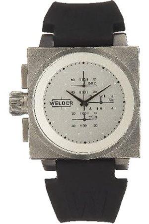 Welders Hombre Relojes - K26 5201 - Reloj cronógrafo de caballero de cuarzo con correa de piel negra