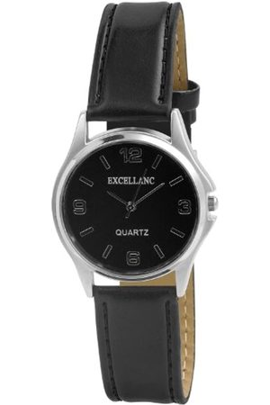 Excellanc Hombre Relojes - 290021000006 - Reloj analógico de caballero de cuarzo con correa de piel negra