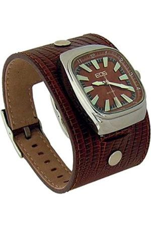 EOS NEW YORK 87LBRN - Reloj de caballero de cuarzo con correa de piel