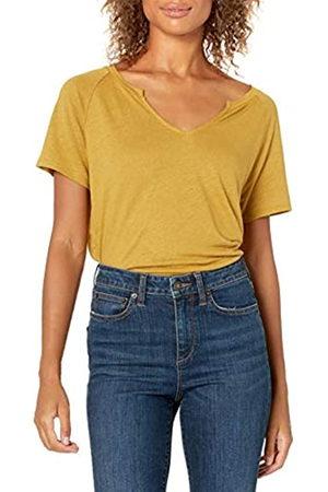 Goodthreads Linen Modal Jersey Short-Sleeve Slit-Neck T-Shirt Camisa XS