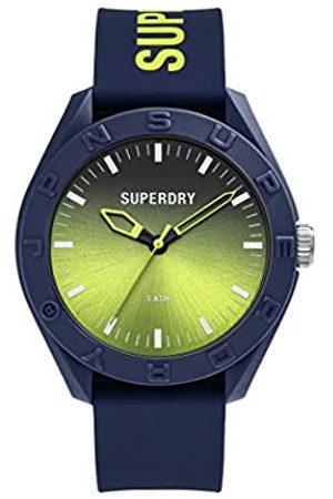 Superdry Reloj Analógico para Hombre de Cuarzo con Correa en Silicona SYG321UN