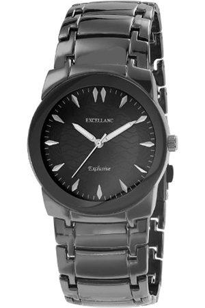 Excellanc Hombre Relojes - 280071100150 - Reloj analógico de caballero de cuarzo con correa de aleación negra