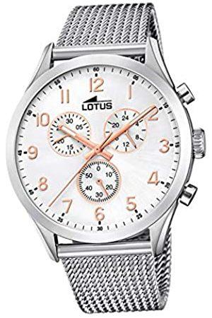 Lotus Hombre Relojes - Reloj Cronógrafo para Hombre de Cuarzo con Correa en Acero Inoxidable 18637/1