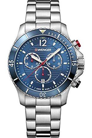 WENGER Relojes - Seaforce Chrono - Reloj Analógico Unisex de Acero Inoxidable