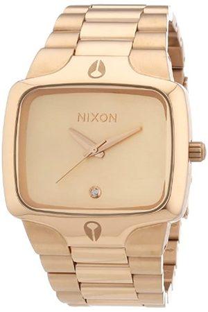 Nixon Reloj analógico para Caballero de Acero Inoxidable Recubierto Oro