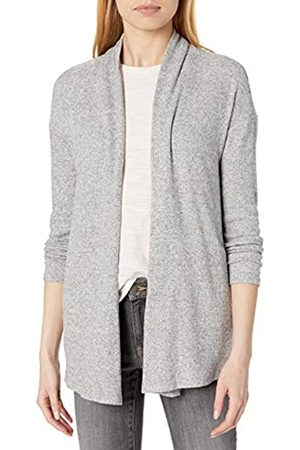 Daily Ritual Cozy Knit Rib Draped Open-Front Cardigan Sweater Suéter