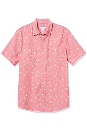 Amazon Hombre Casual - Regular-Fit Short-Sleeve Shirt Button-Down-Shirts
