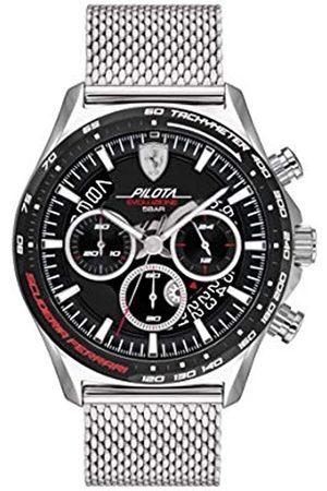 Scuderia Ferrari Hombre Relojes - Reloj Cosa análoga para de los Hombres de Cuarzo con Correa en Acero Inoxidable 830826