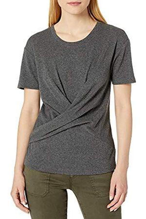 Daily Ritual Mujer Manga corta - Cotton Modal Stretch Slub Short-Sleeve Wrap T-Shirt Fashion-t-Shirts