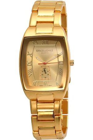 Excellanc Hombre Relojes - 280004000127 - Reloj analógico de caballero de cuarzo con correa de aleación dorada