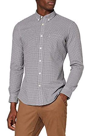 MERAKI Hombre Casual - Marca Amazon - Camisa Manga Larga de Algodón Entallada Hombre, M