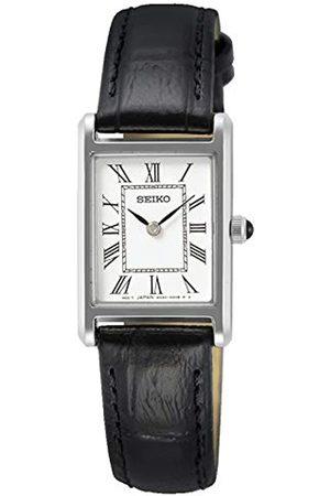 Seiko Hombre Relojes - Reloj Analógico para Hombre de Cuarzo con Correa en Cuero SWR049P1