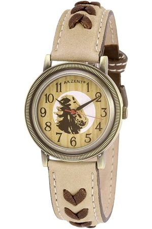 Akzent 194120000002 - Reloj analógico de mujer de cuarzo con correa de piel - sumergible a 50 metros