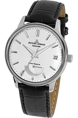 Jacques Lemans Reloj Analógico para Hombre de Cuarzo con Correa en Cuero N-222A
