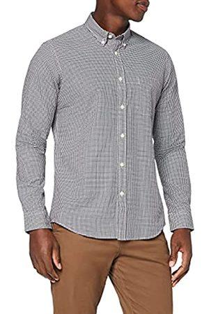 MERAKI Hombre Casual - Marca Amazon - Camisa Regular Fit Manga Larga de Cuadros Vichy Hombre, XL