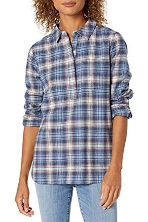 Goodthreads Mujer Blusas - Brushed Flannel Popover Shirt Button-Down-Shirts