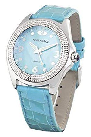 TIME FORCE TIMEFORCERelojAnalógicoparaUnisexAdultosdeCuarzoconCorreaenCueroTF1342J-03