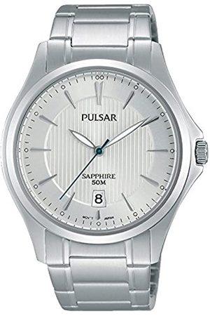 Seiko Pulsar para Hombre-Reloj analógico de Cuarzo de Acero Inoxidable PS9383X1
