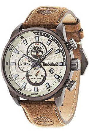 Timberland Hombre Relojes - Henniker II – Reloj de hombre de cuarzo con esfera analógica pantalla y correa de cuero 14816JLBN