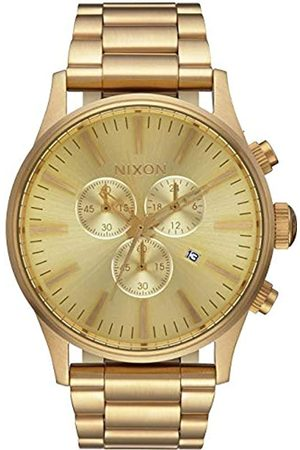 Nixon Hombre Relojes - Reloj Cronógrafo para Hombre de Cuarzo con Correa en Chapado en Acero Inoxidable A386502-00