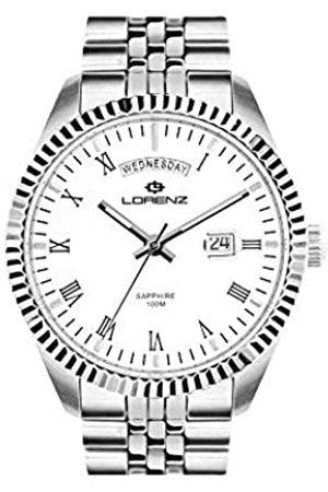 Lorenz RelojAnalógicoparaHombredeCuarzoconCorreaenAceroInoxidable030119AA