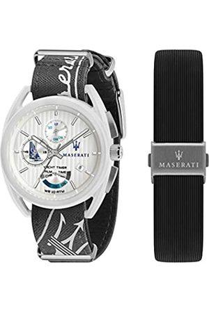 Maserati Hombre Relojes - Reloj para Hombre, Colección TRIMARANO, en Acero, Cuero, Fibra de Vidrio