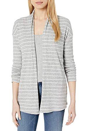Daily Ritual Mujer Chaqueta de punto - Cozy Knit Rib Draped Open-Front Cardigan Sweater Suéter