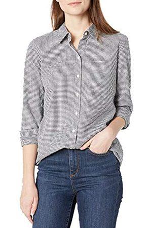 Goodthreads Mujer Blusas - Seersucker Long-Sleeve Button-Front Tunic Shirt Camisa L