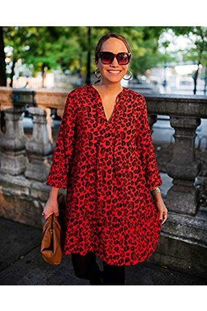THE DROP Mujer Casual - Vestido para Mujer Suelto de Corte Escalonado y, por @graceatwood