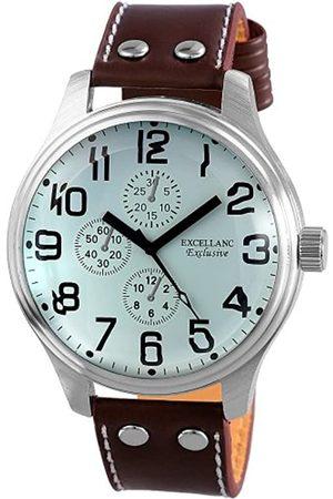 Excellanc Hombre Relojes - 295722300013 - Reloj analógico de caballero de cuarzo con correa de piel