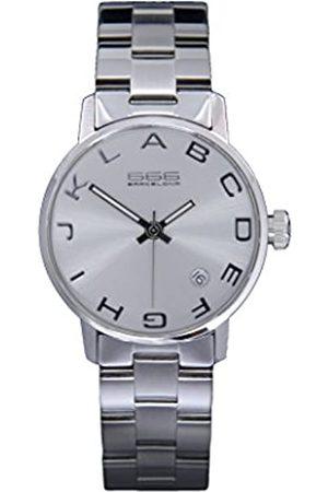666Barcelona Hombre Relojes - RelojAnalógicoparaHombreUnisexdeCuarzoconCorreaenAceroInoxidable666-275