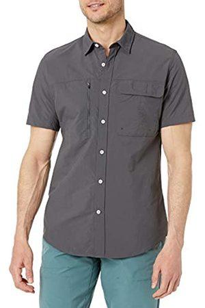 Amazon Hombre Casual - Camisa de Senderismo de Manga Corta de Ajuste Regular Que Absorbe la Humedad Athletic-Shirts