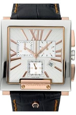 Aigner Hombre Relojes - A27113 - Reloj cronógrafo de caballero de cuarzo con correa de piel
