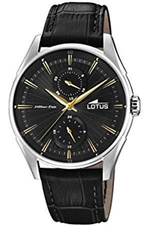 Lotus Hombre Relojes - Reloj Multiesfera para Hombre de Cuarzo con Correa en Cuero 18523/4
