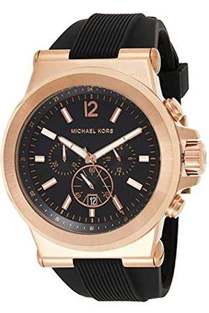 Michael Kors Hombre Relojes - Reloj Cronógrafo para Hombre de Cuarzo con Correa en Silicona MK8184