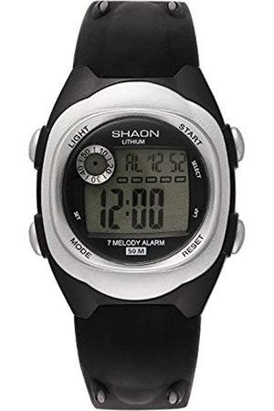Shaon Hombre Relojes - Reloj Digital para Hombre de Cuarzo con Correa en Plstico 39-6081-84
